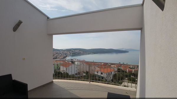 Terrace of the apartment A1148 on the island Ciovo in Croatia.
