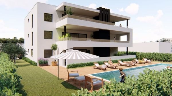 Modern apartments with pool in Croatia, Dalmatia to buy.