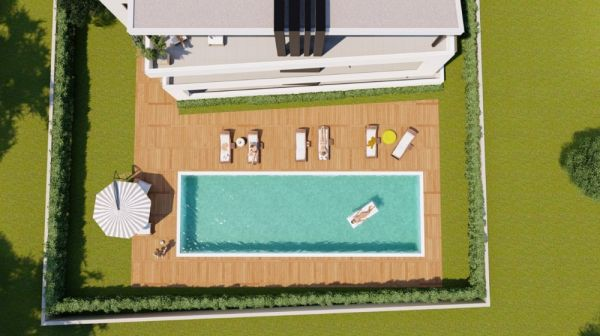 Pool of apartments A1156 in the region Privlaka, Dalmatia.