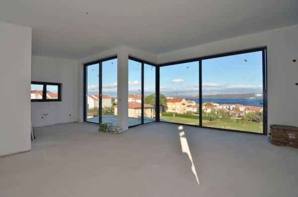 Modern living room of the property A1164 in Croatia.