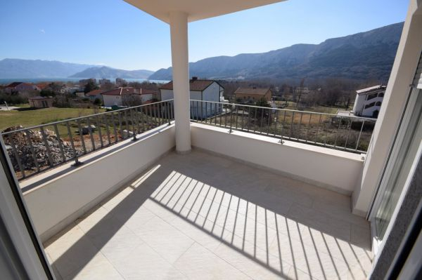New apartment with sea views in Croatia in Baska on the island of Krk for sale.