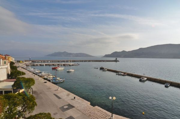 Apartment in the 1st row to the sea in Baska in Croatia for sale.