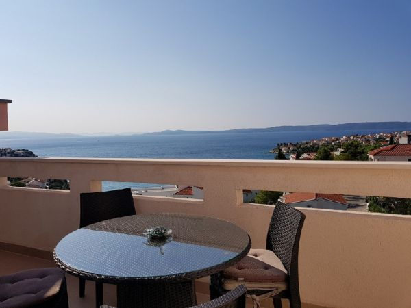 Modern furnished apartment with sea view on the island Ciovo in Dalmatia, Croatia for sale.