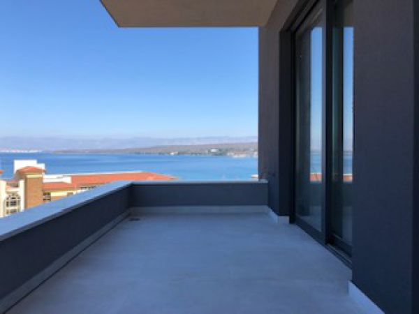 High quality terrace with sea view of the property A1267 in Croatia.