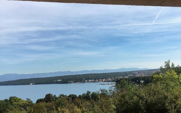 Sea view of maisonette, which is for sale in Malinska in Croatia.