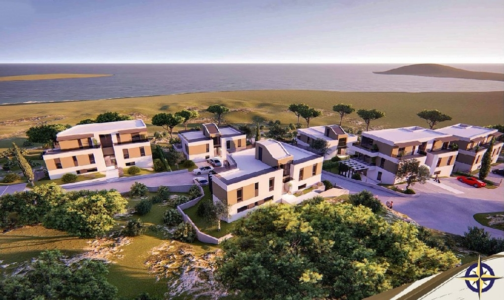 Real estate island Murter in Croatia.