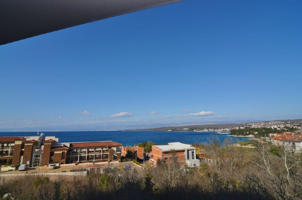 Sea view from the terrace of the apartment A1300 in Malinska on Krk.