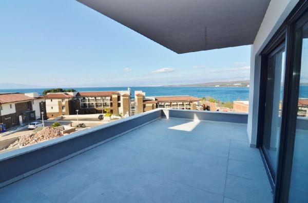 Panoramic view of the sea from the new apartment A1300, which is offered for sale on the island of Krk in Malinska.