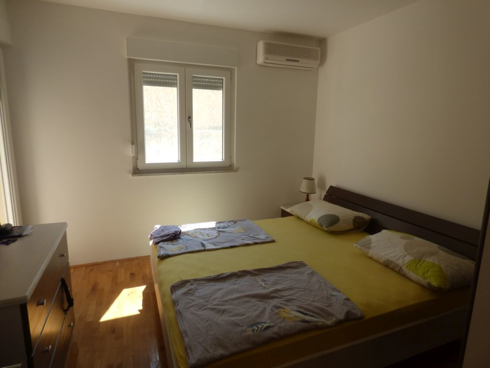 Air-conditioned bedroom.