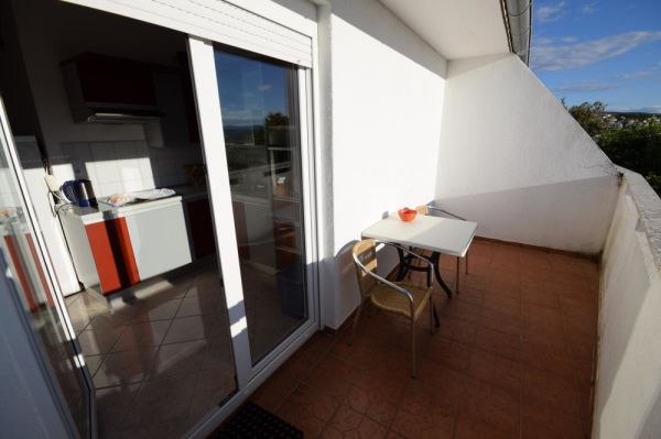 Spacious balcony of the apartment A1391.