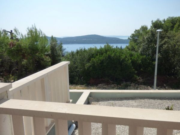 Sea view from the terrace of the apartment A1419 at Trogir, Croatia.