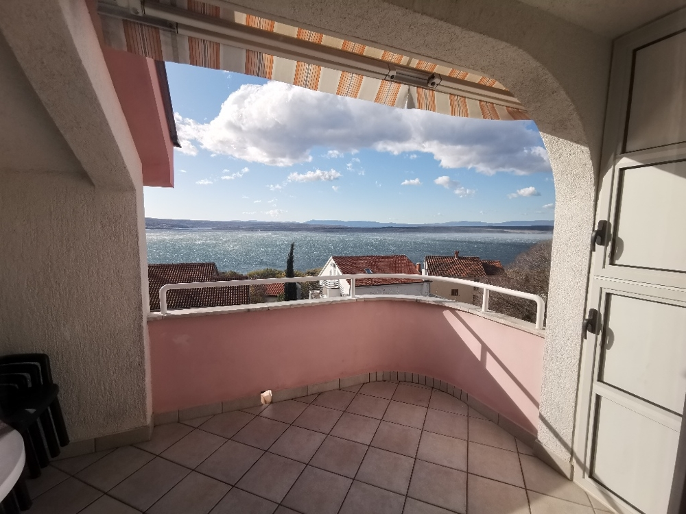Large terrace with beautiful sea view - Property A1509 in the Crikvenica region, Croatia.