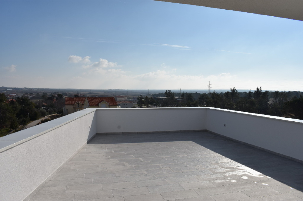 Roof terrace of property A1528 which is for sale at Nin in Croatia.