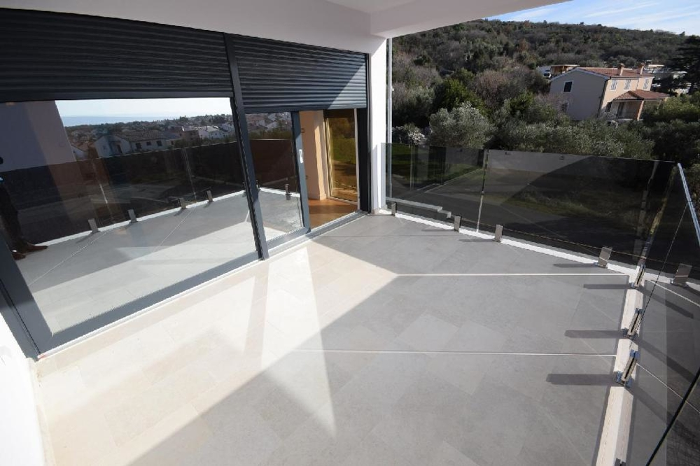 Terrace of property A1544 in Croatia, island of Krk.