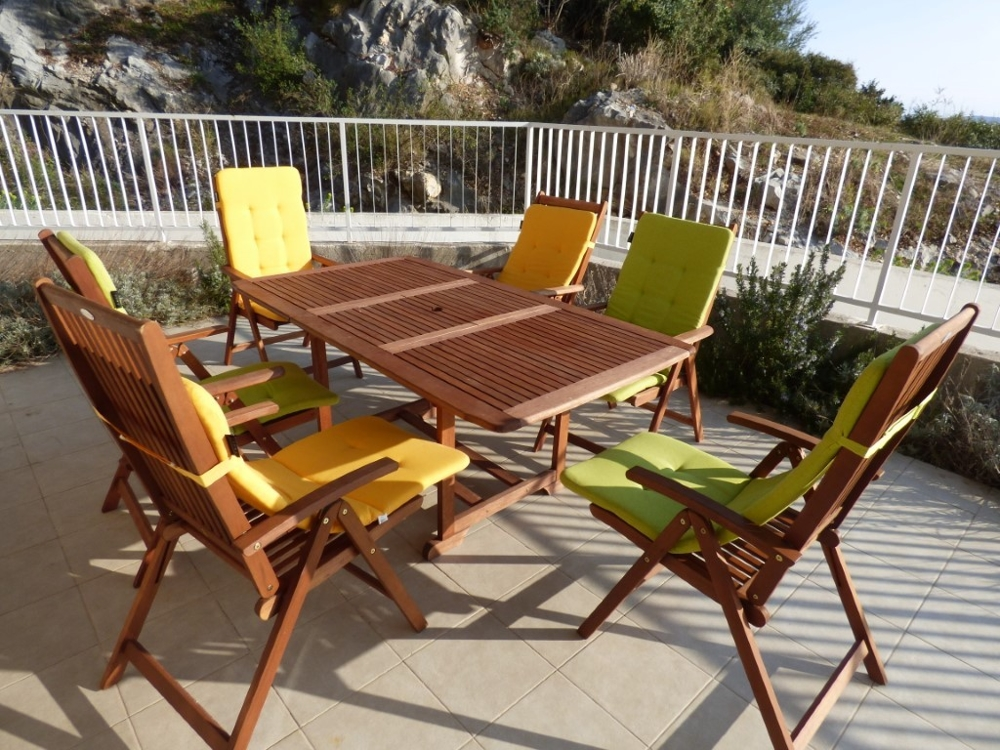 Terrace of apartment A1549 which is for sale in Croatia.