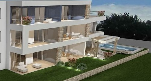 Buy high quality apartments with swimming pool in the garden in Croatia - Panorama Scouting GmbH.