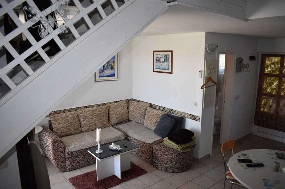 Living room of duplex apartment A1629, Dalmatia, Zadar region.