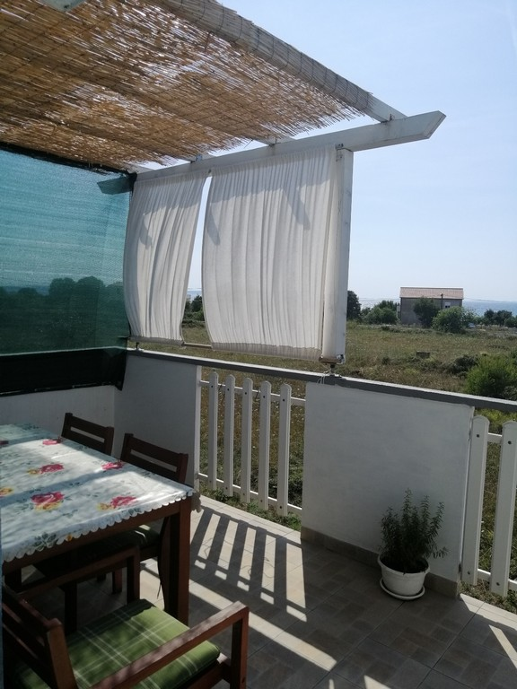 Terrace of apartment A1629, which is for sale in the Zadar region.