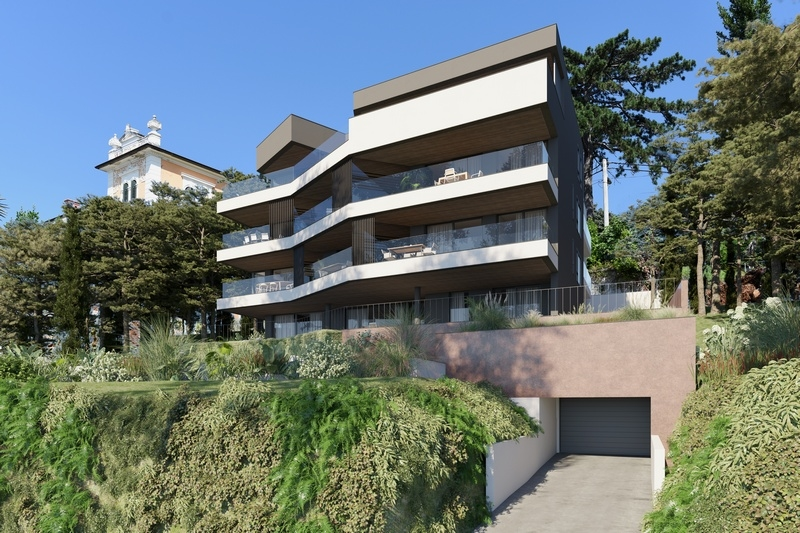 New apartments for sale in a modern building in Opatija, Kvarner Bay.