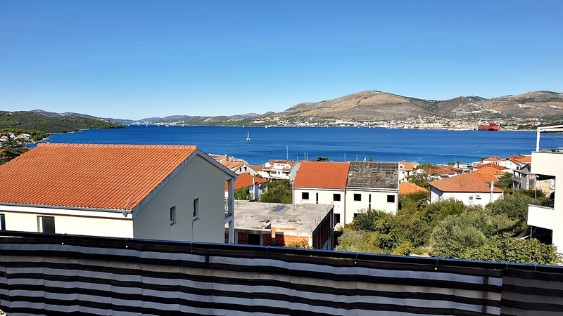 Sea view from the balcony of property A1653, Ciovo Island, Croatia.