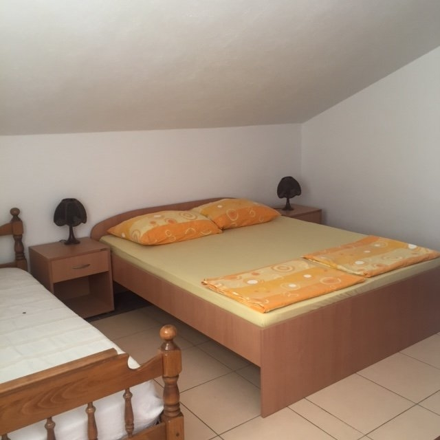 The second bedroom of apartment A1658 on Peljesac in Croatia.