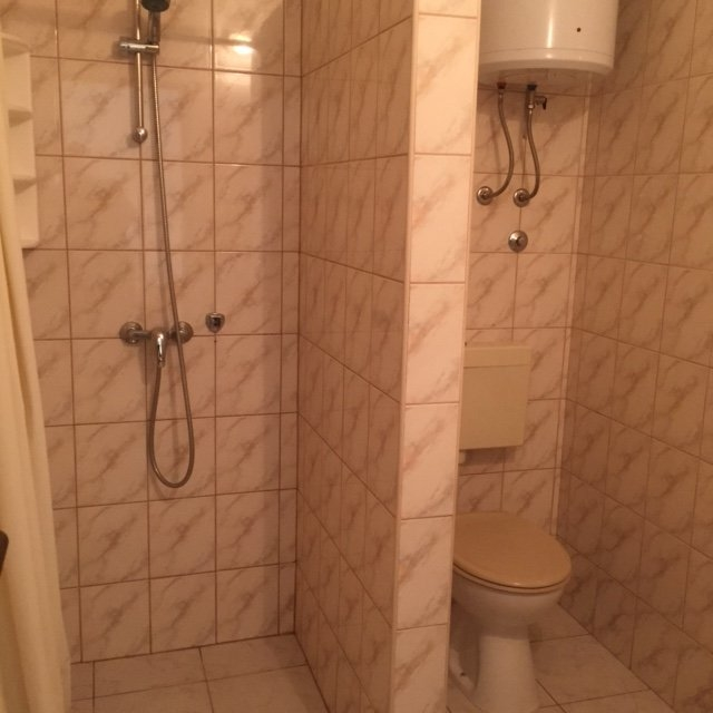 One of the two bathrooms.
