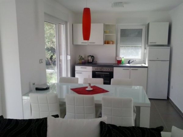 Living area and kitchen of the property A509 in Starigrad, Croatia.