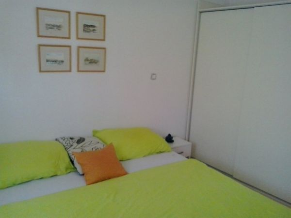 One of the three bedrooms of the apartment A509 in Starigrad-Paklenica.