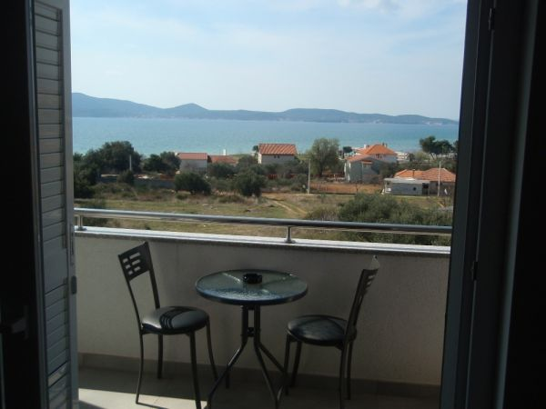 Apartment with sea view near Sukosan in Croatia.