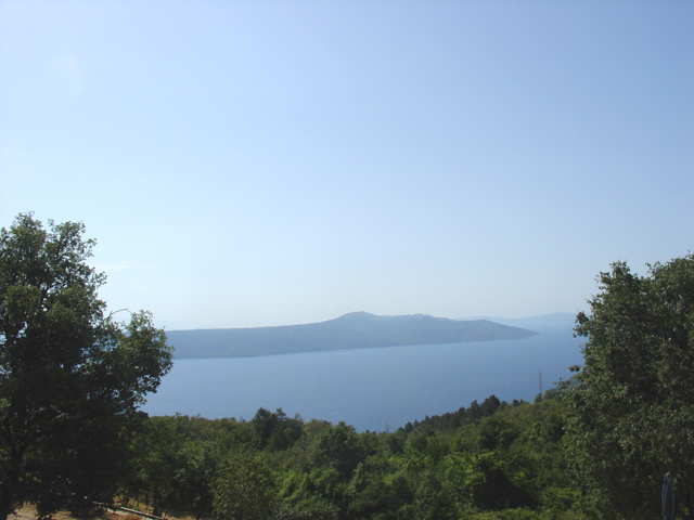 The panoramic sea views from building plot for sale in Moscenicka Draga, Istria