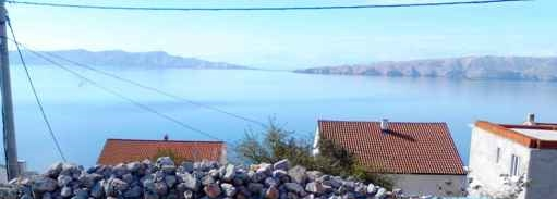 The panoramic sea views from the fully developed building lot near Senj