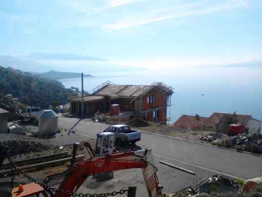 The view from the upper part of the property in Senj is unobstructed