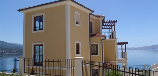 Here you see the villa in French style overlooking the sea in Northern Adriatic region in Croatia