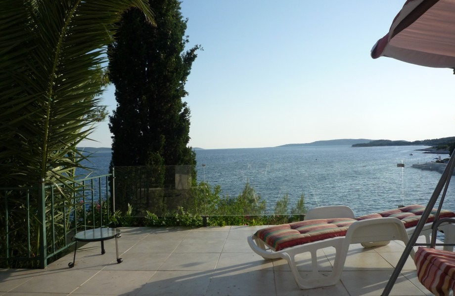 The view from the terrace of the seaside villa in Croatia for sale