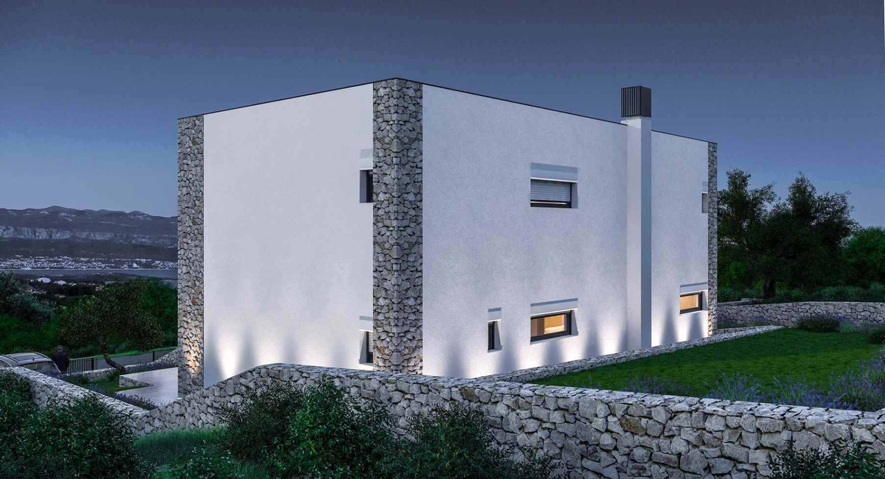 This is how the modern villa for sale in Croatia will look like, once it is finished in 2016