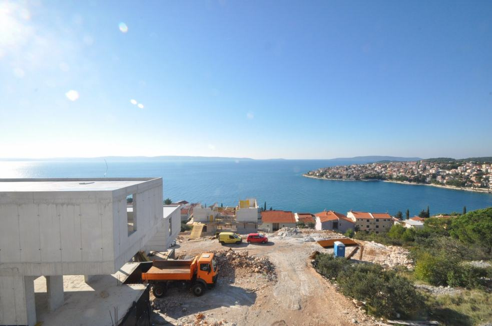 The new villa with pool for sale in Croatia has great sea view. Real Estate Croatia - Panorama Scouting