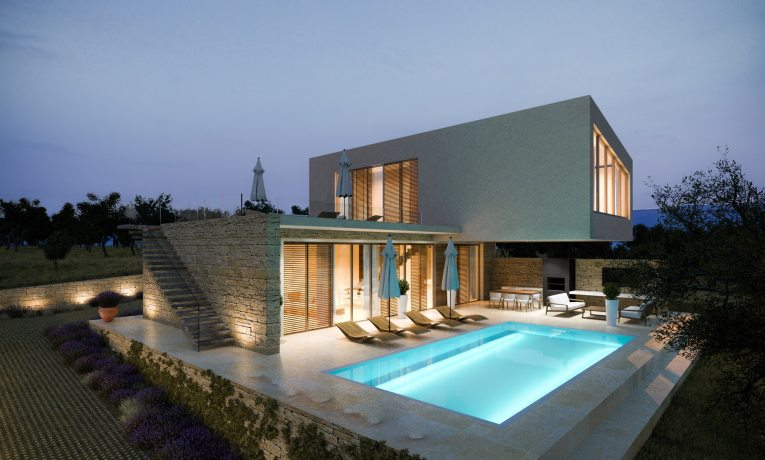Luxury villa in Croatia for sale -  Krk Real Estate.