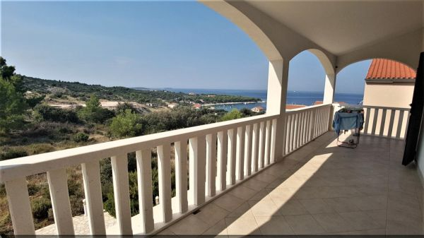Large terrace of the property H1004 in the region Primosten, Croatia.
