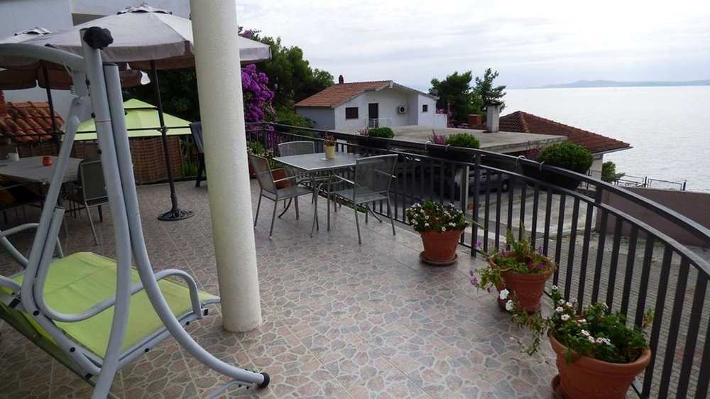 The sea view from the new house in the 2nd row for sale on Ciovo. Property by the sea - Panorama Scouting