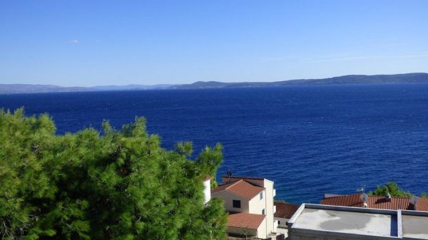 The sea view from apartment house for sale on Ciovo, Croatia