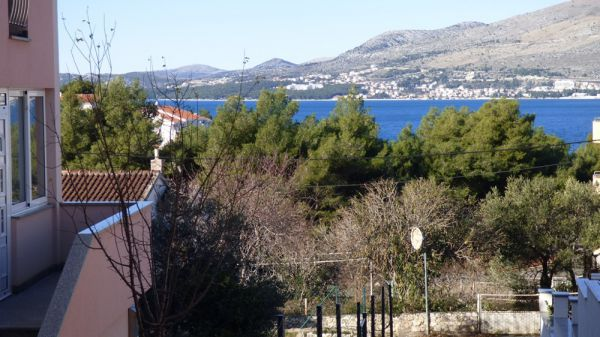 The sea view from the terrace of the house for sale on Ciovo, Dalmatia. Property with sea view - Panorama Scouting