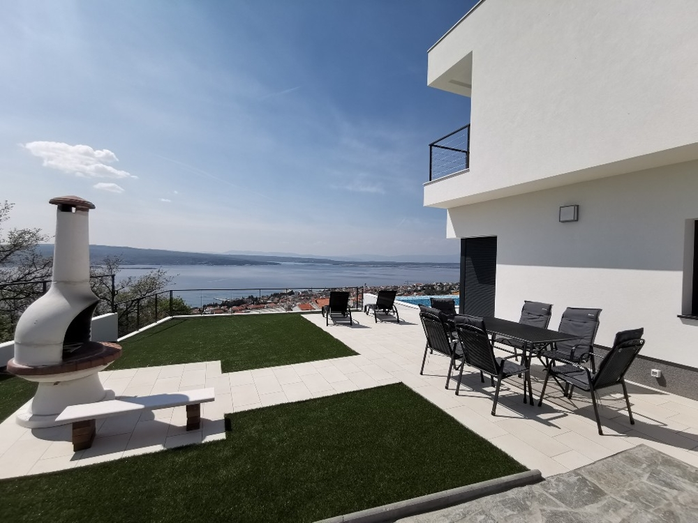 New villa with panoramic views in Crikvenica, Croatia for sale.