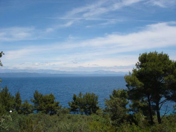 The sea view from the bungalow for sale in Croatia, Korcula. Property by the sea - Panorama Scouting