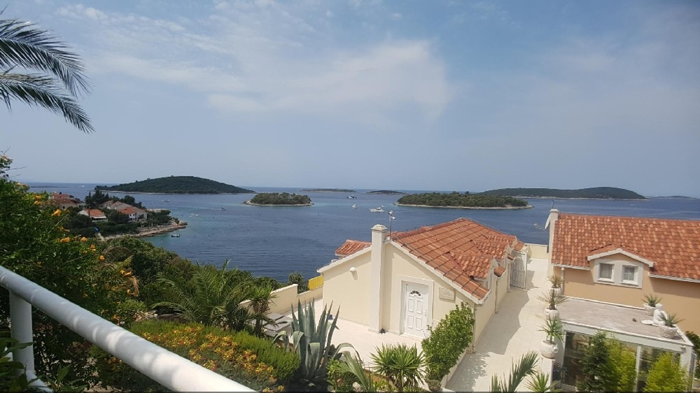 View from the balcony of the surroundings and the sea - buy a villa in Croatia.