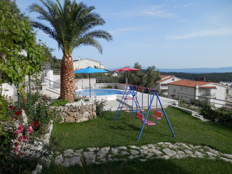 House with garden and sea view for sale in Makarska, Croatia.