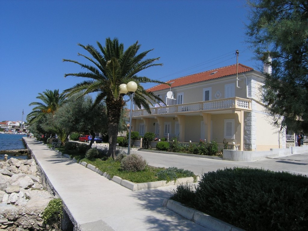 View from the sea to the semi-detached house - Buy a house in Croatia.