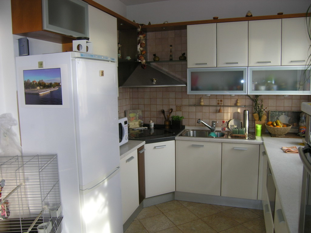 Kitchen of one of the nine residential units.