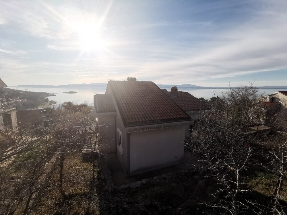 House with sea view in the Kvarner Bay, near Novi Vinodolski.