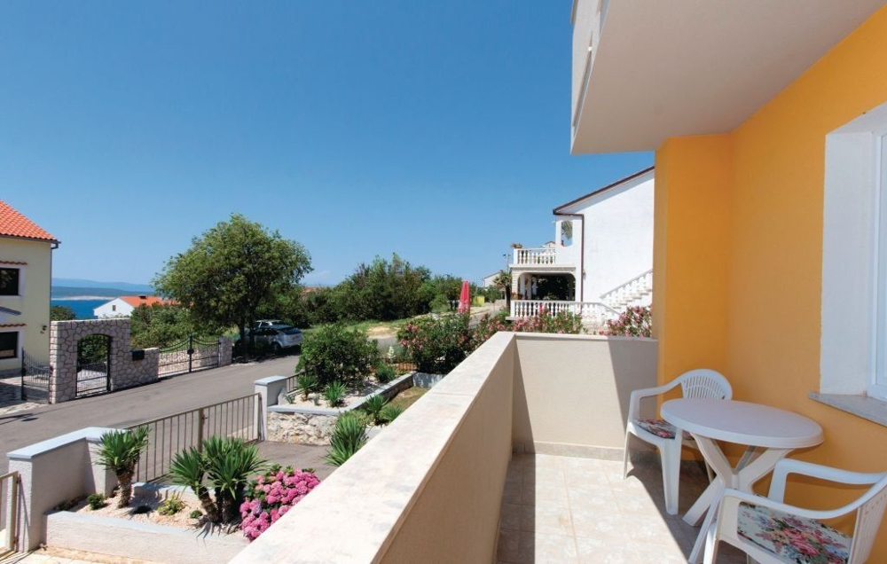 Terrace and sea view of property H1424 in Croatia, Crikvenica.