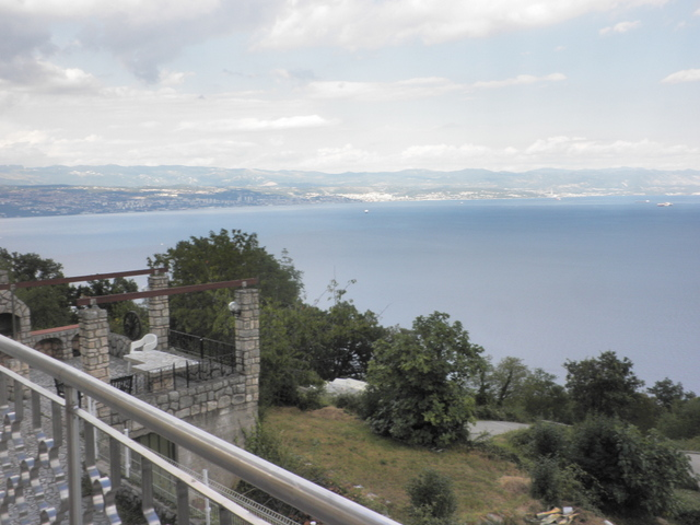 View from the terrace of the surroundings and the sea in the Opatija region.